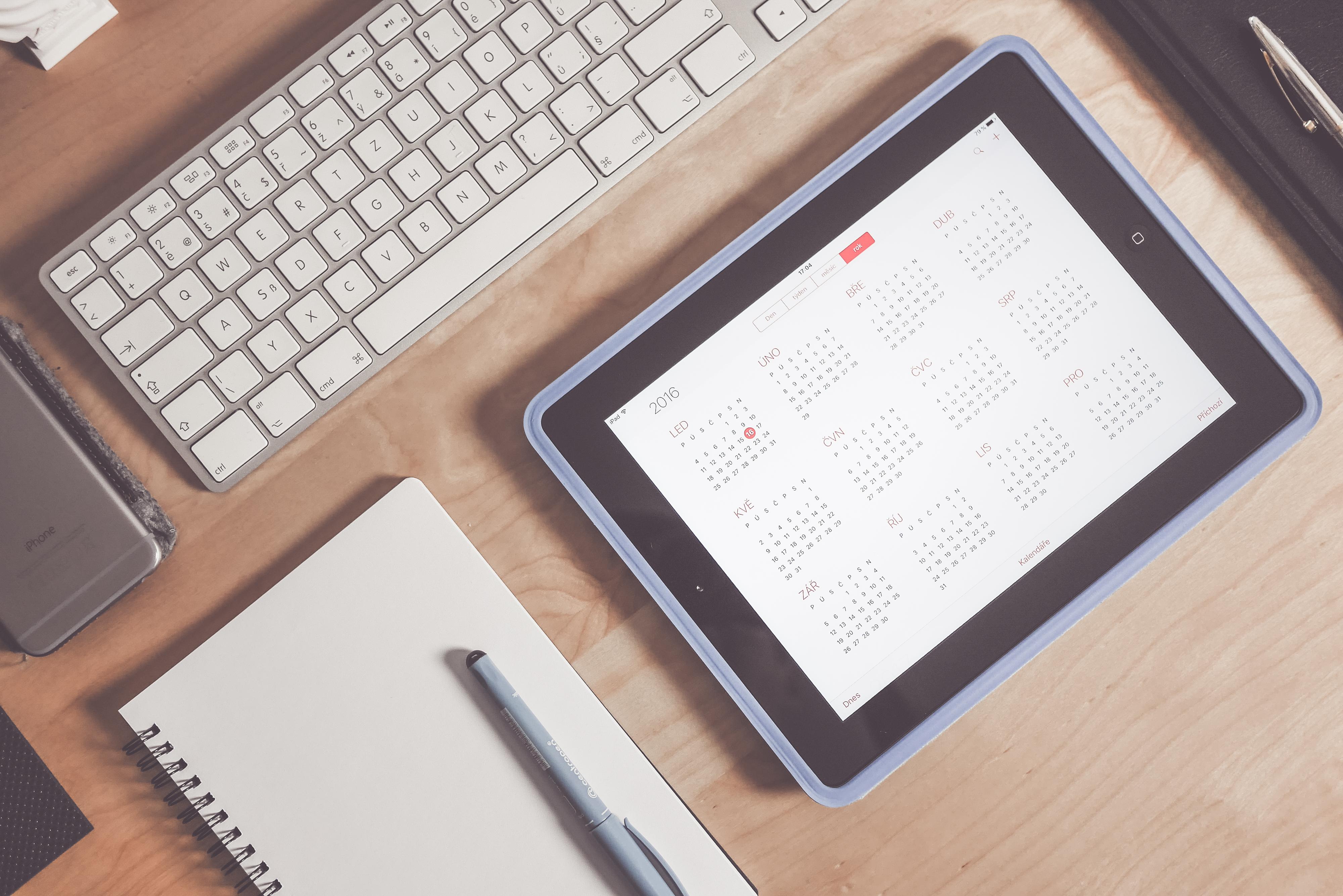calendar app business time managment workspace